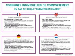 EBCD Signalétique Camping - IE018C Reglement submersion marine