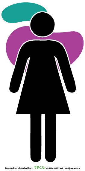 EBCD Signalétique Camping - LE002G Logo Femme