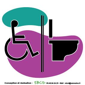 EBCD Signalétique Camping - LE010 wc handicapé