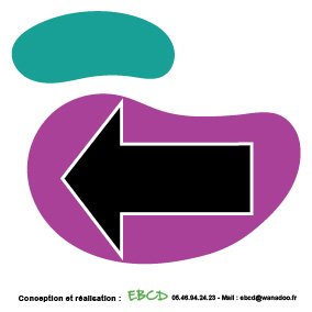 EBCD Signalétique Camping - LN042A Flèche gauche