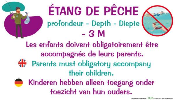 EBCD Signalétique Camping - PE021 Etang de peche