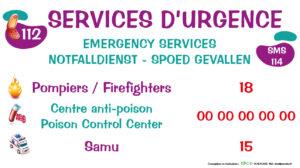 EBCD Signalétique Camping - PE037 Services d'urgence