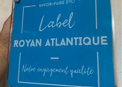 EBCD Signalétique Camping - Plaque plexi label royan atlantique