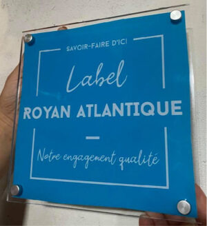 EBCD Signalétique Camping - Plaque plexi label royan atlantique