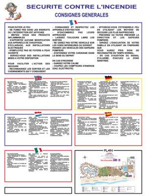 EBCD Signalétique Camping - I001CF Reglement incendie Capfun GM 750x1000