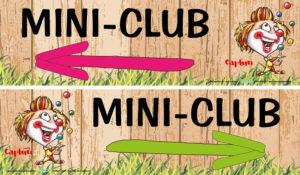 EBCD Signalétique Camping - J015CF Mini club enfant directionnel 70x20