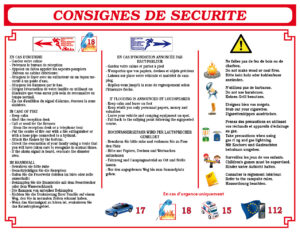 EBCD Signalétique camping - IN001B13 Consignes sécurité 450x350