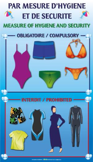 EBCD Signalétique Camping - PN003A piscine maillot obligatoire 400x700